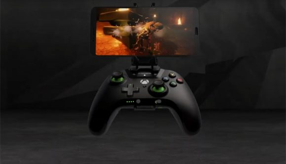 PowerA Moga controller with a phone attatched