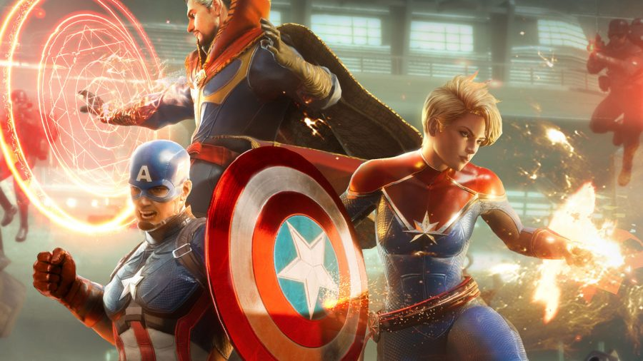 Marvel Future Revolution characters in battle