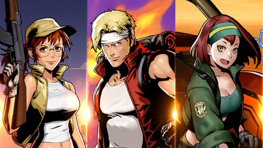 The Metal Slug Commander characters