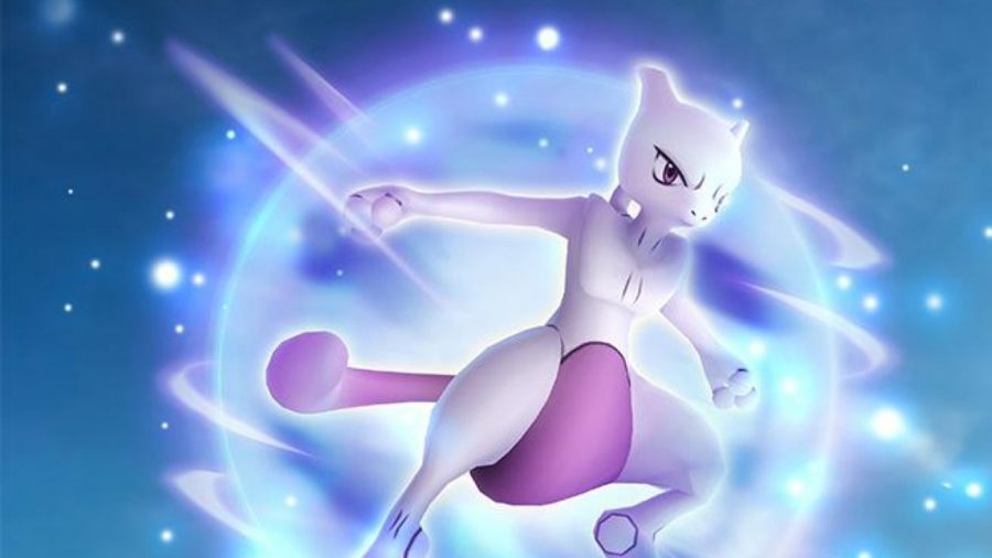 Pokémon Go's mewtwo jumping