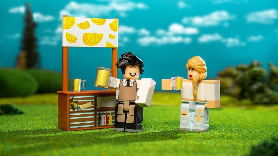 Roblox characters selling lemonade