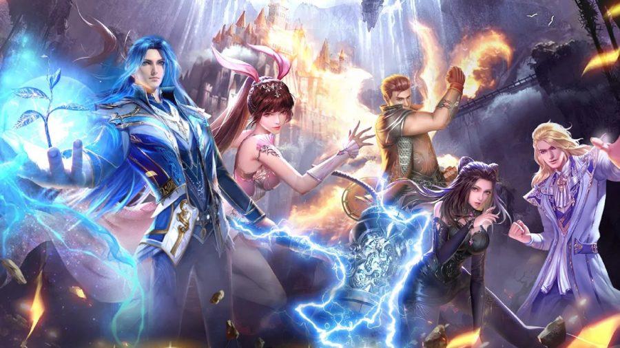 Soul Land Reloaded heroes performing magic