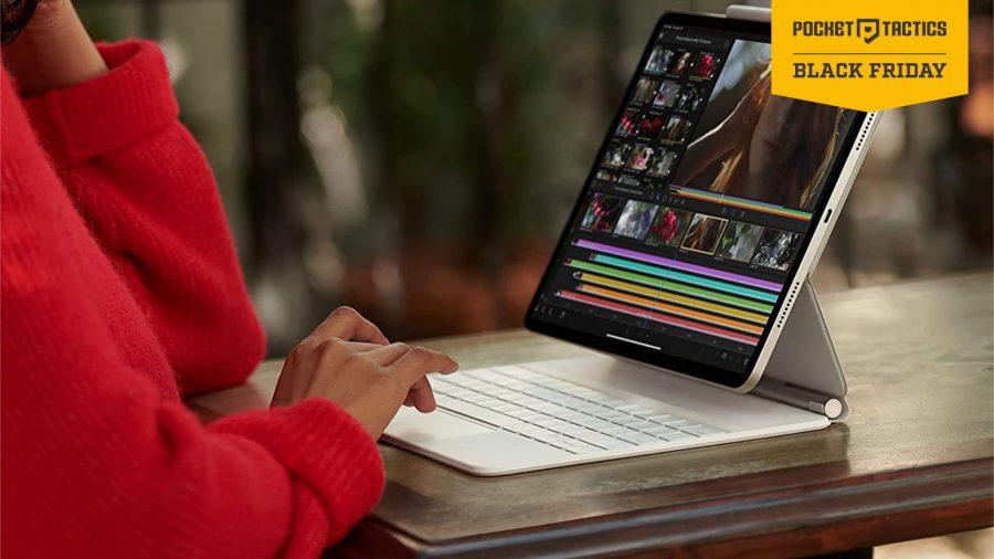 Woman using an iPad