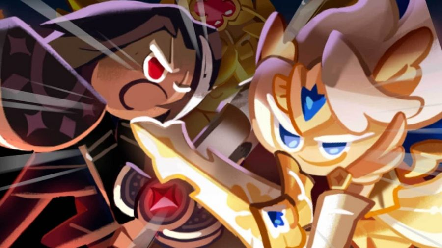Two Cookie Run: Kingdom characters in an epic battle