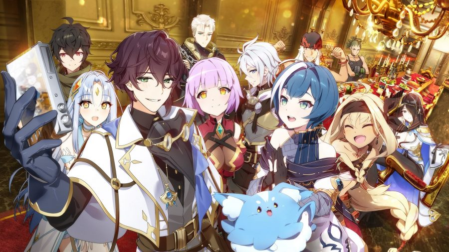 A group of Epic Seven characters taking a selfie