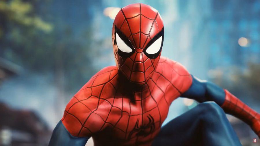 Marvel Future Revolution's Spider Man looking toward the camera