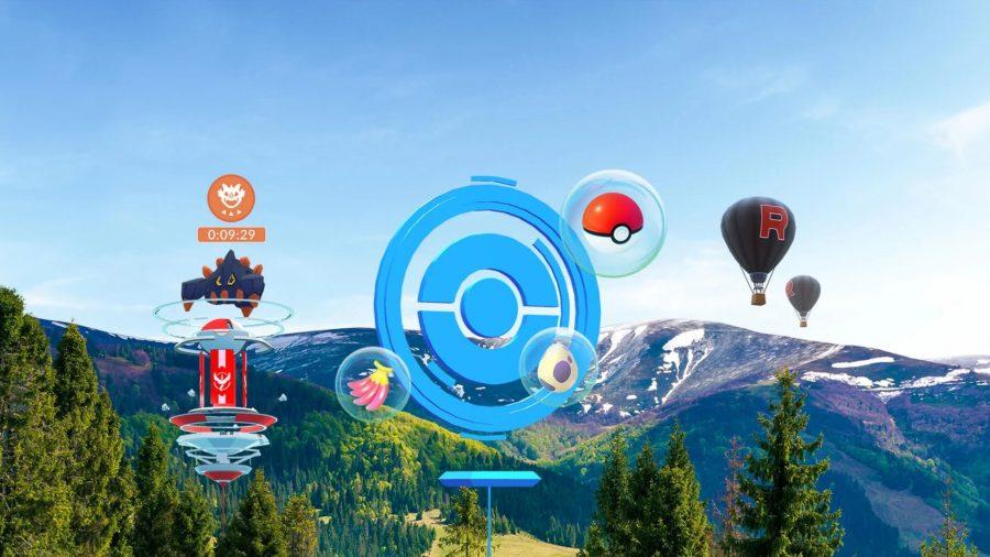 Pokémon Go on PC: a render of a Pokéstop in real life