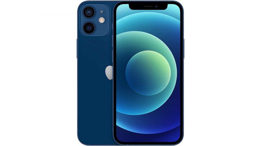 A blue iPhone 12 Mini
