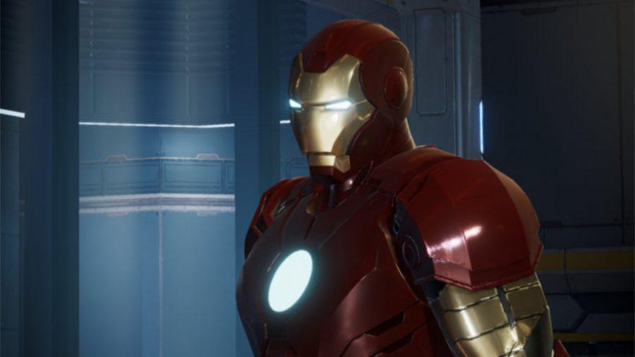 Close up of Iron Man