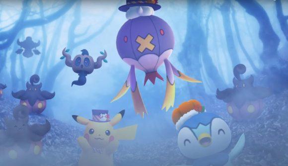 Pokémon in a misty forest