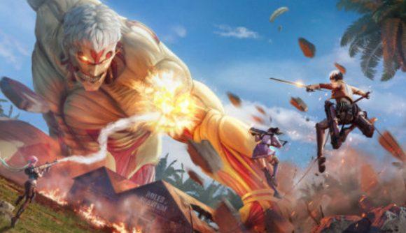 A titan attacking